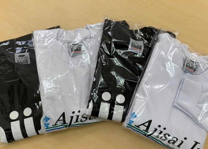 AJISAI Tシャツを半袖と長袖、社員用で作りました